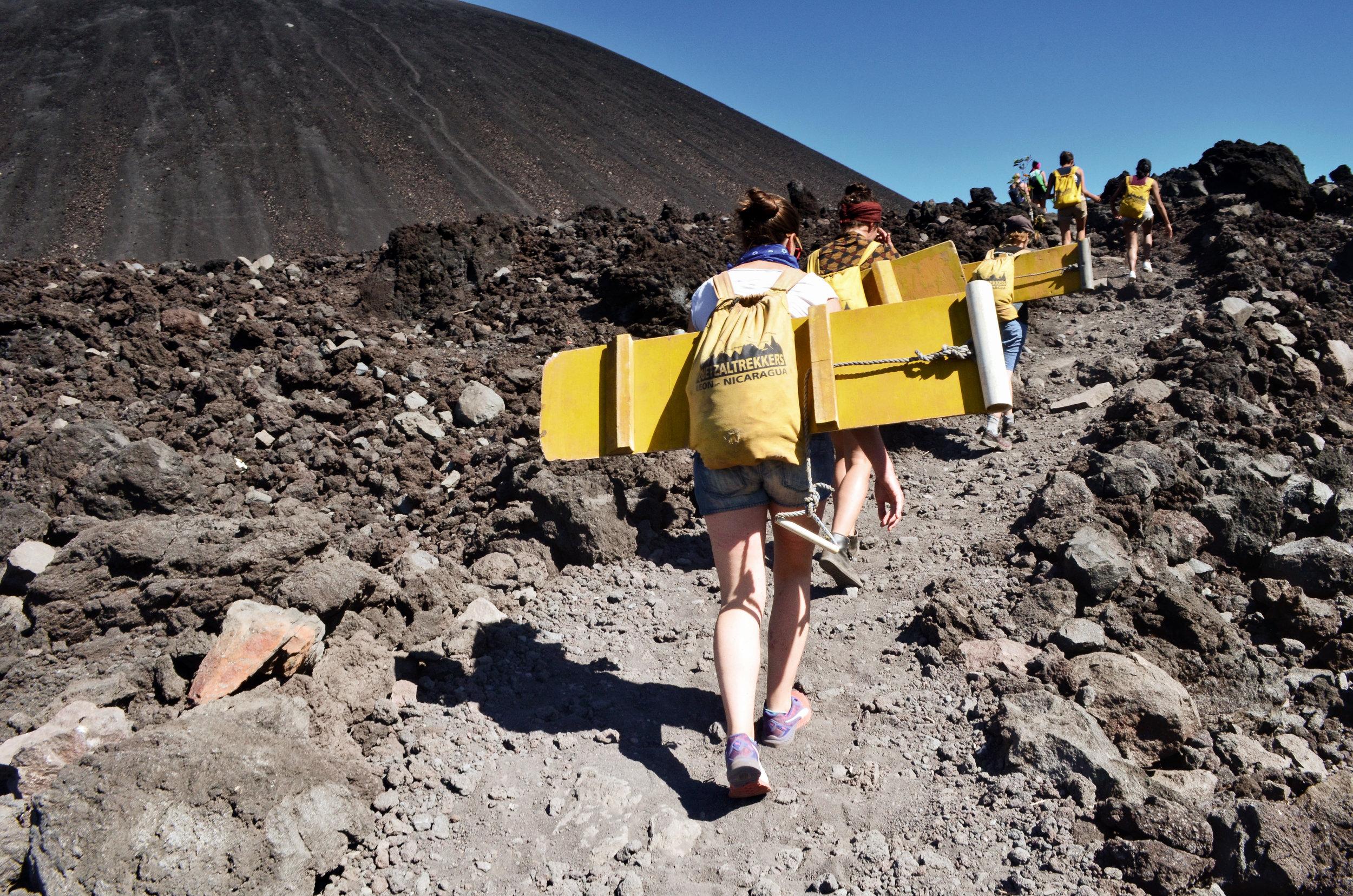 Hiking up Cerro Negro