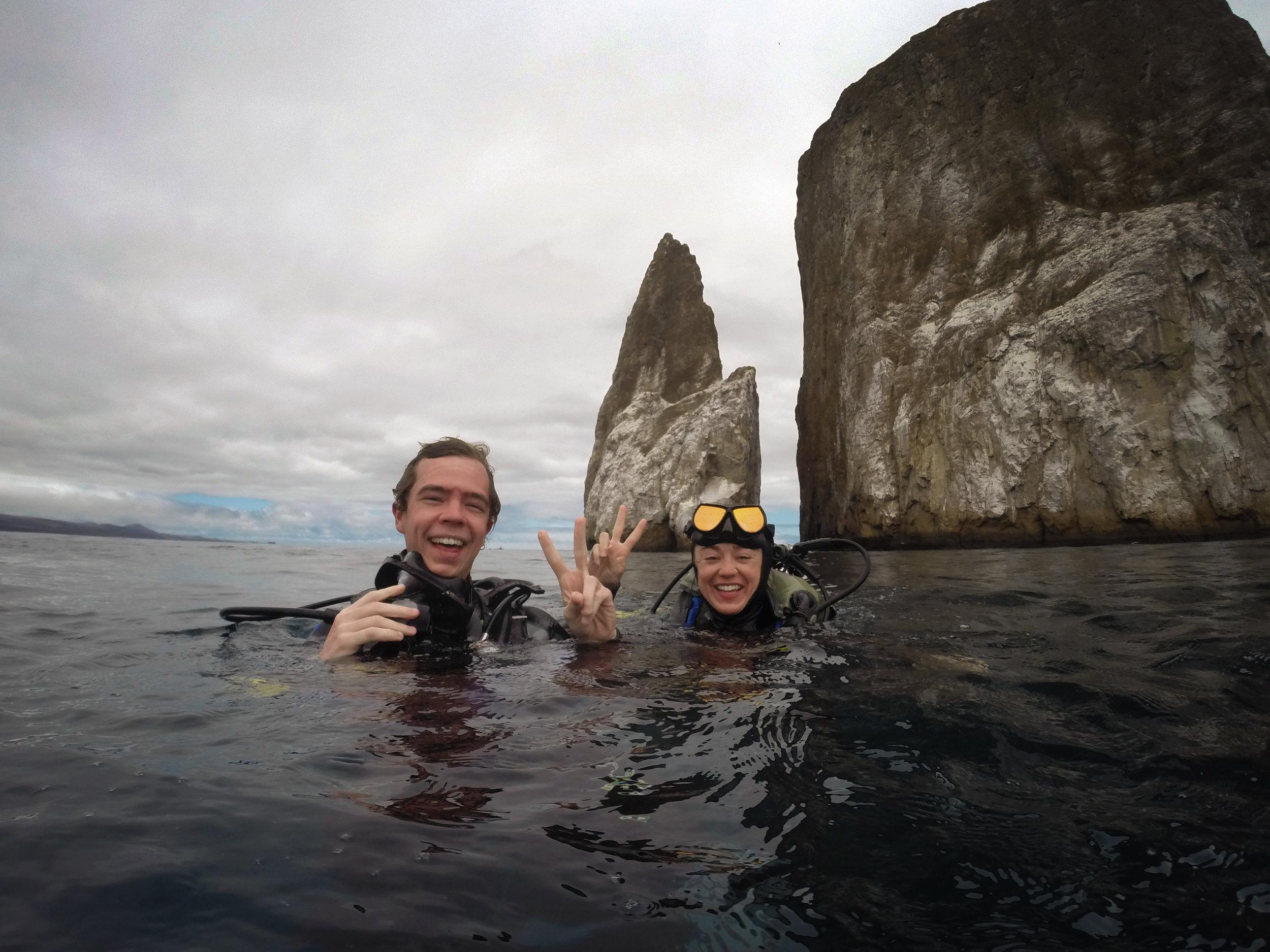The end of a wonderful dive off Kicker Rock on San Cristóbal Island