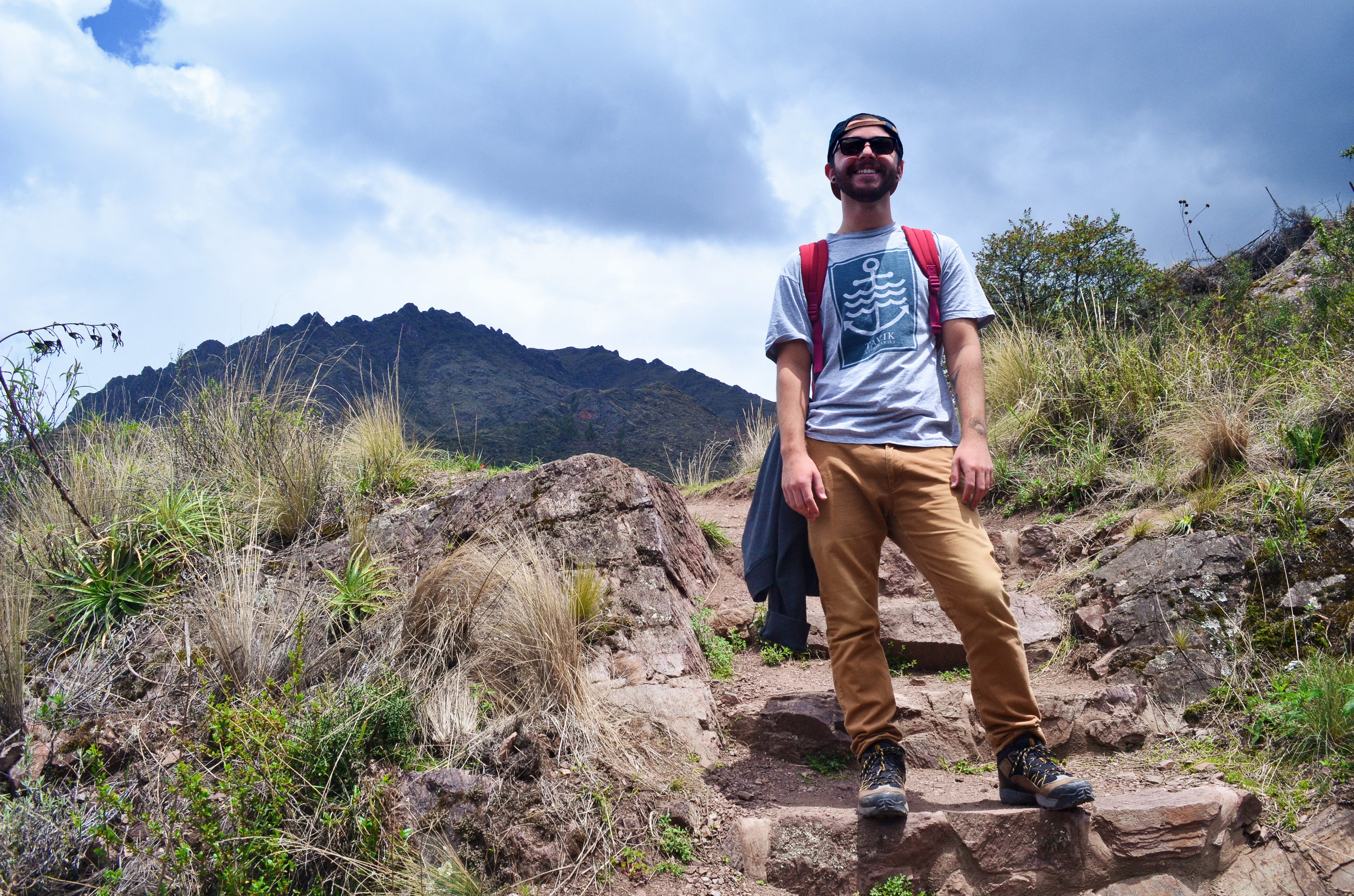 Rebecca's brother, Richie, in the Sacred Valley of Peru