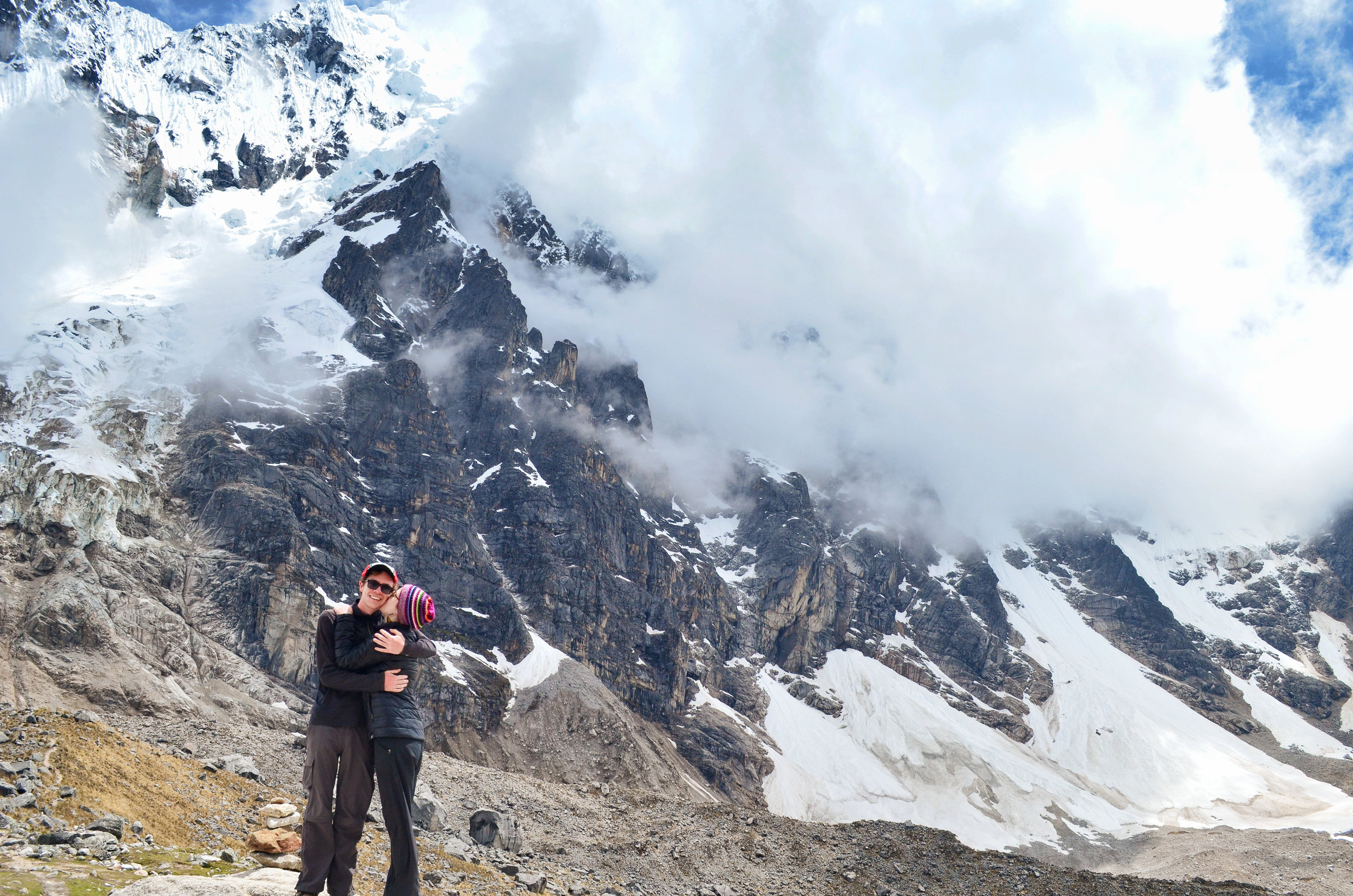 At Salkantay Pass, the highest point on the trek