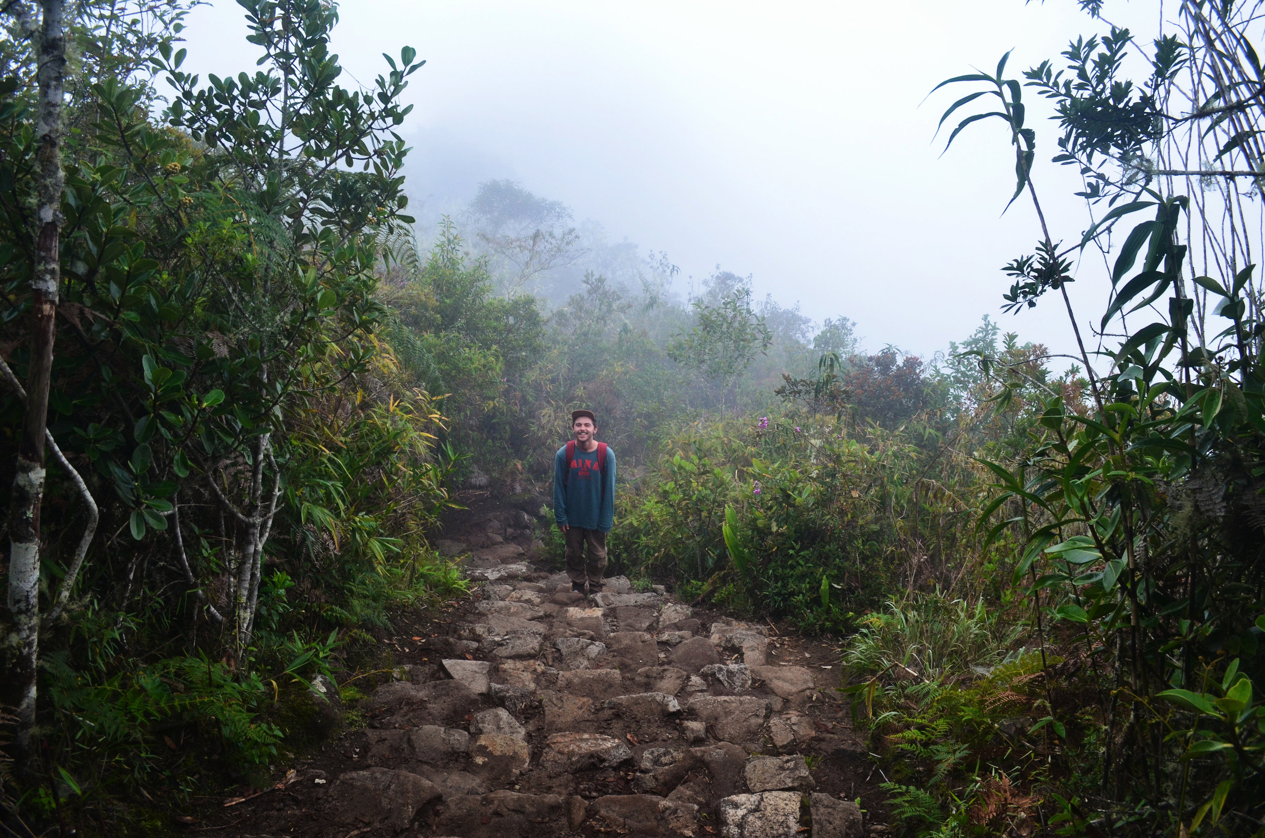 A quick break on the hike up Machu Picchu Mountain