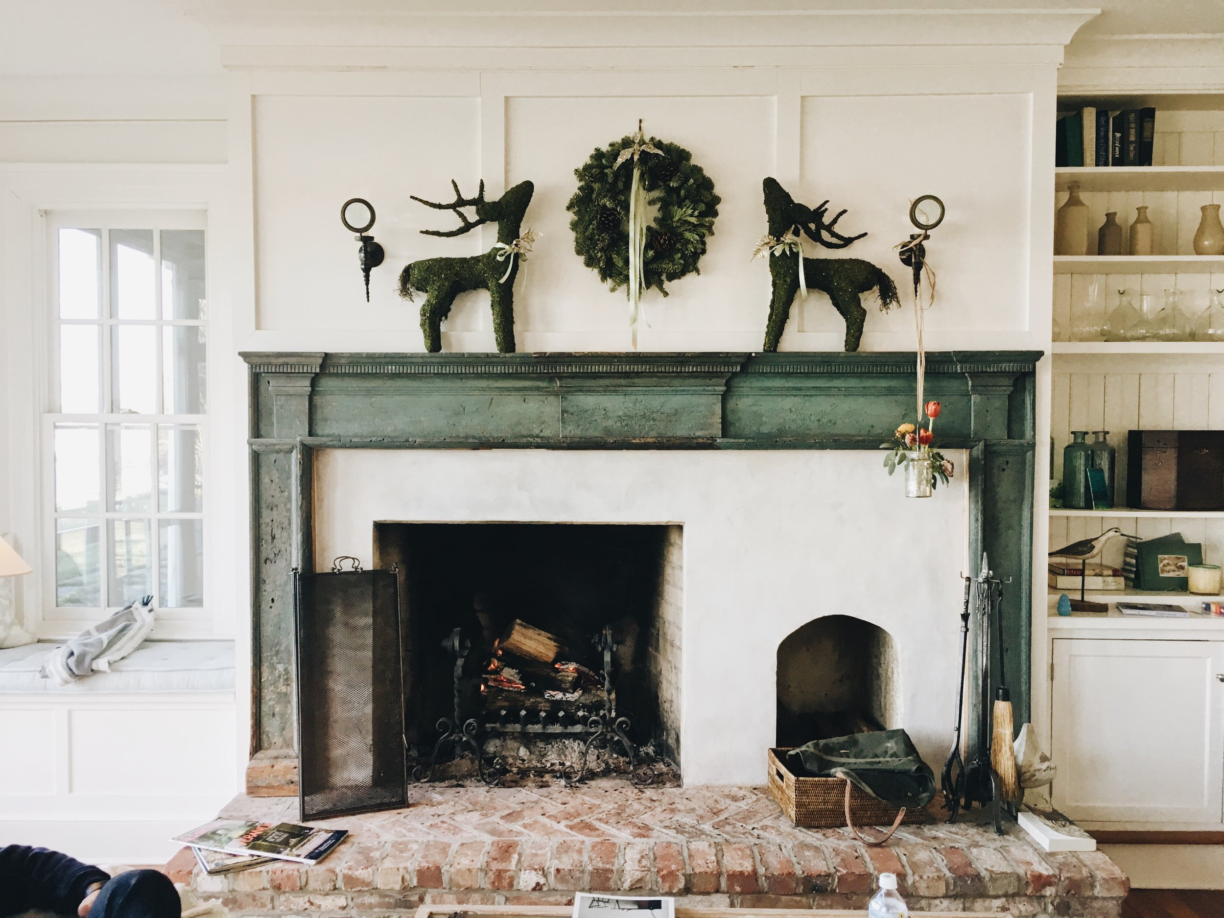If you have a mantel, this is a cute idea for making it the focal point of the space.