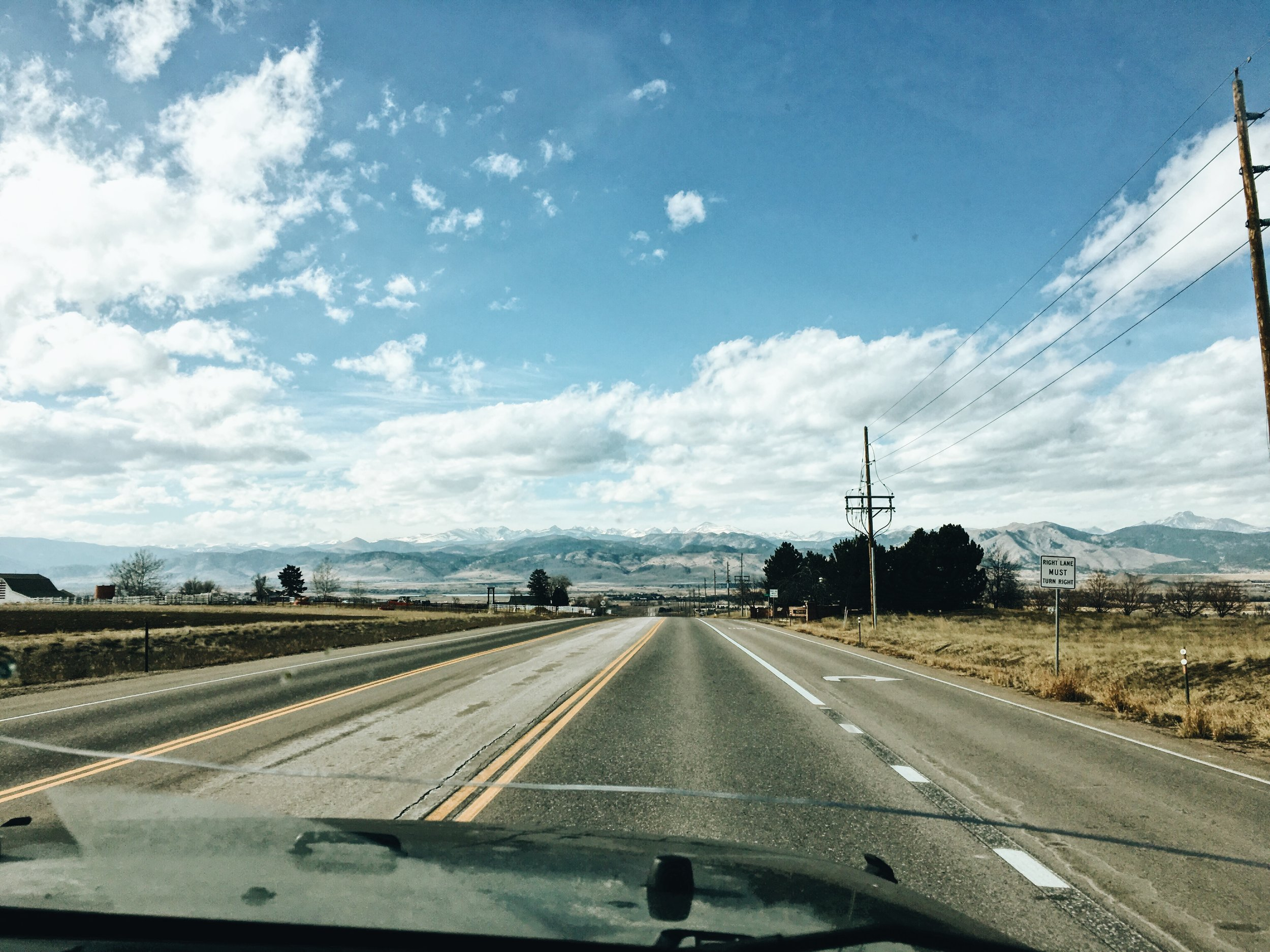 The beautiful Colorado mountains. I love this state, it's so open and beautiful.