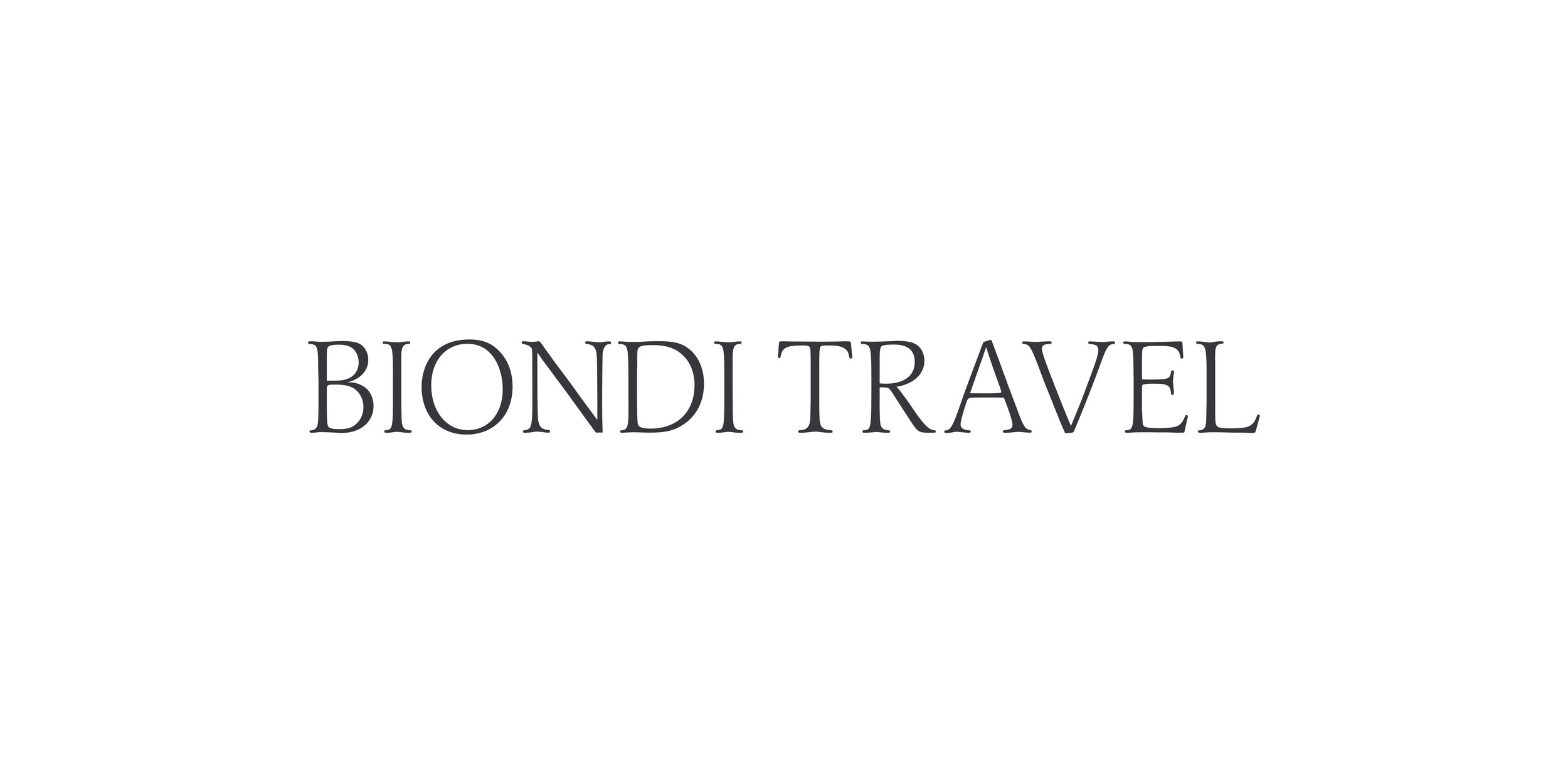Biondi travel Full Branding Package & Logo