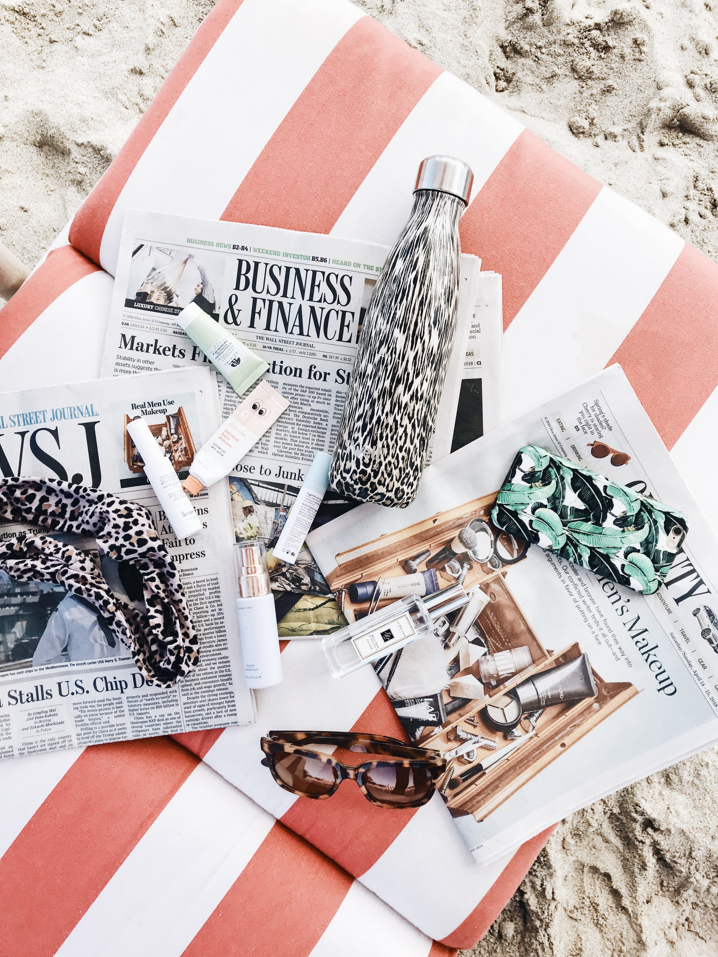 beach beauty bag essentials