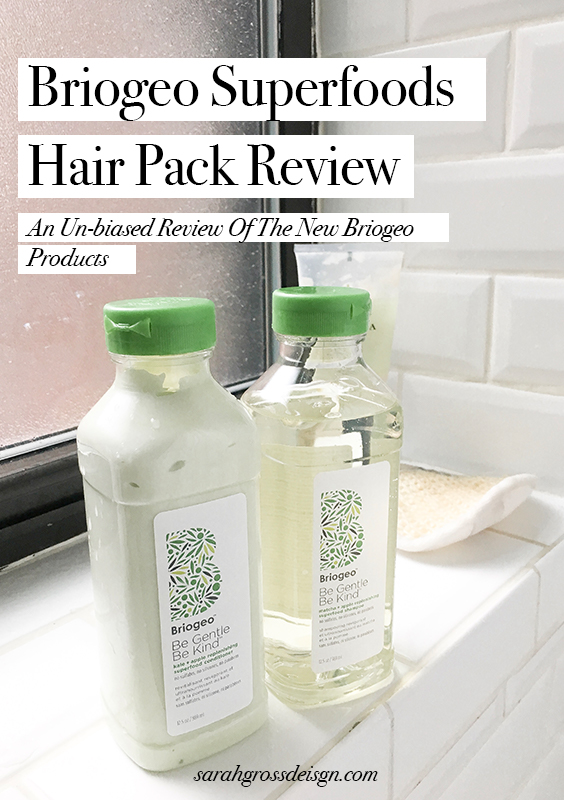 briogeo superfoods hair pack review