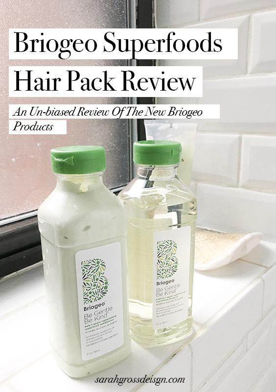 briogeo superfoods hair pack review