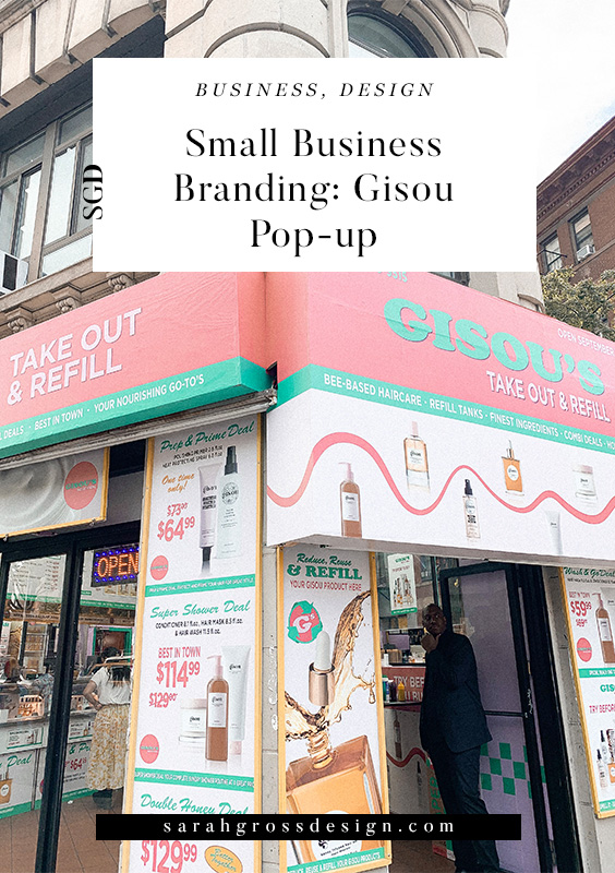 Small business branding, Small business branding design inspiration, gisou negin mirsalehi, gisou pop up new york city, branding design inspiration