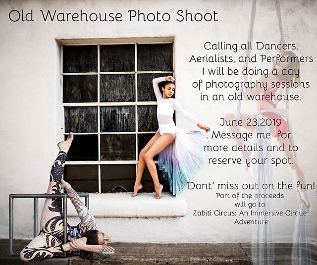 📣 Calling all movement artists! The absolutely fantastic @mwirthphotography will be doing a day of shooting in our new @zabiticircus warehouse space on Sunday, June 23rd 🎉 Not only will you get moody, artistic, and gorgeous photos- but part of the proceeds go to Zabiti! Message @mwirthphotography for more details and be sure to give her page a like 🎪💚 #warehousephotoshoot #photoshoot #zabiti #mwirthphotography #rainbowmilitia #rainbowpicoftheday #denver #denverphotographer #denverartists #denvercircus #zabiticircus #ballet #dancer #aerialist #contortionist #mobementartist #rolecall #circus #circusarts #denverevents