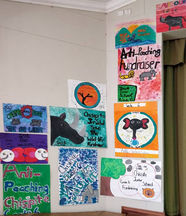 Some of this year's artwork on display from the Grade 6 girls of Chisipite Junior School.