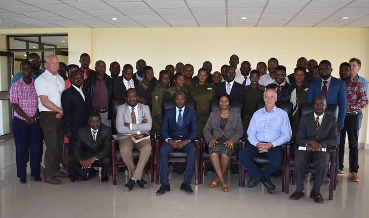 Participants at the recent Zambezi Society-funded training course for field operatives tackling Illegal WIldlife Crime