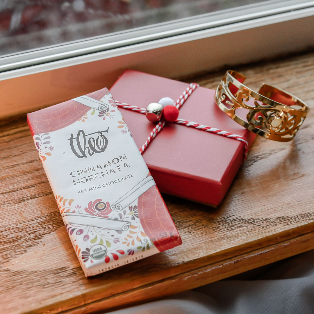 Theo Chocolate Cinnamon Horchata 45% Milk Chocolate