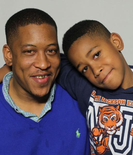 Albert Sykes and his son, Aidan.