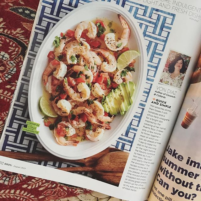 My first recipe for @betterhomesandgardens ! Also in the @nytcooking collection. ☺️🙌🏽 A fresh citrusy, herby, shrimpy salad, perfect for summer cookouts. #🥗 #🦐 #🍋 #puertoricanfood