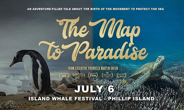 "There's still tickets left for tonight's screening of @themaptoparadise as part of the @islandwhales Festival Weekend! *Ticket link in bio*  From Executive Producer Martin Sheen, the Map to Paradise is an adventure-filled and spectacularly gorgeous tale about the birth of the global movement to protect the sea. From underwater worlds of ice to glistening coral sanctuaries, discover what it takes to build a movement and to create positive change.  Filmed across six continents, the filmmakers have set out to challenge the mainstream narrative of hard-hitting environmental documentaries with a ""doom and gloom"" message, and replace it with one of hope and courage.  #plasticfree #plasticfreejuly  #plasticfreephillipisland #islandwhale #islandwhalefestival #maptoparadise #phillipisland #sanremo #plasticfreeseas #cleanseas #cleanoceans #lessplastic"