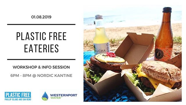 If you've initiated disposable plastic-free actions in your cafe, restaurant, venue or takeaway, or are keen to do so, we'd love for you to join us for our workshop and info session! Among several topics there will be an in depth discussion on compostable (plant based) packaging and how it is disposed of.....Can it go in the green bin? Or be composted at home? Or does it end up in landfill and the environment?  Thursday 1 August, 6pm - 8pm, light meal provided. Free event, 25 places only, bookings essential ⭐ link in bio ⭐  Thank you to our major sponsors Westernport Water for supporting this event, and participating businesses B-Alternative, Nordic Kantine, Abicor Southern as well as Bass Coast Shire Council.