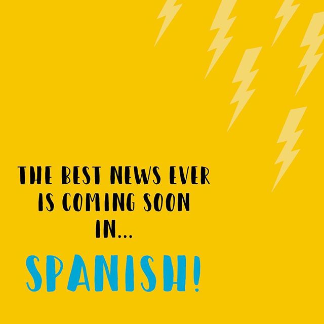 We have been working on a special project over here and we are finally able to announce that The Best News Ever is being released in SPANISH!! Swipe for a sneak peak     . . . #spanish #bookstagram #children #translation