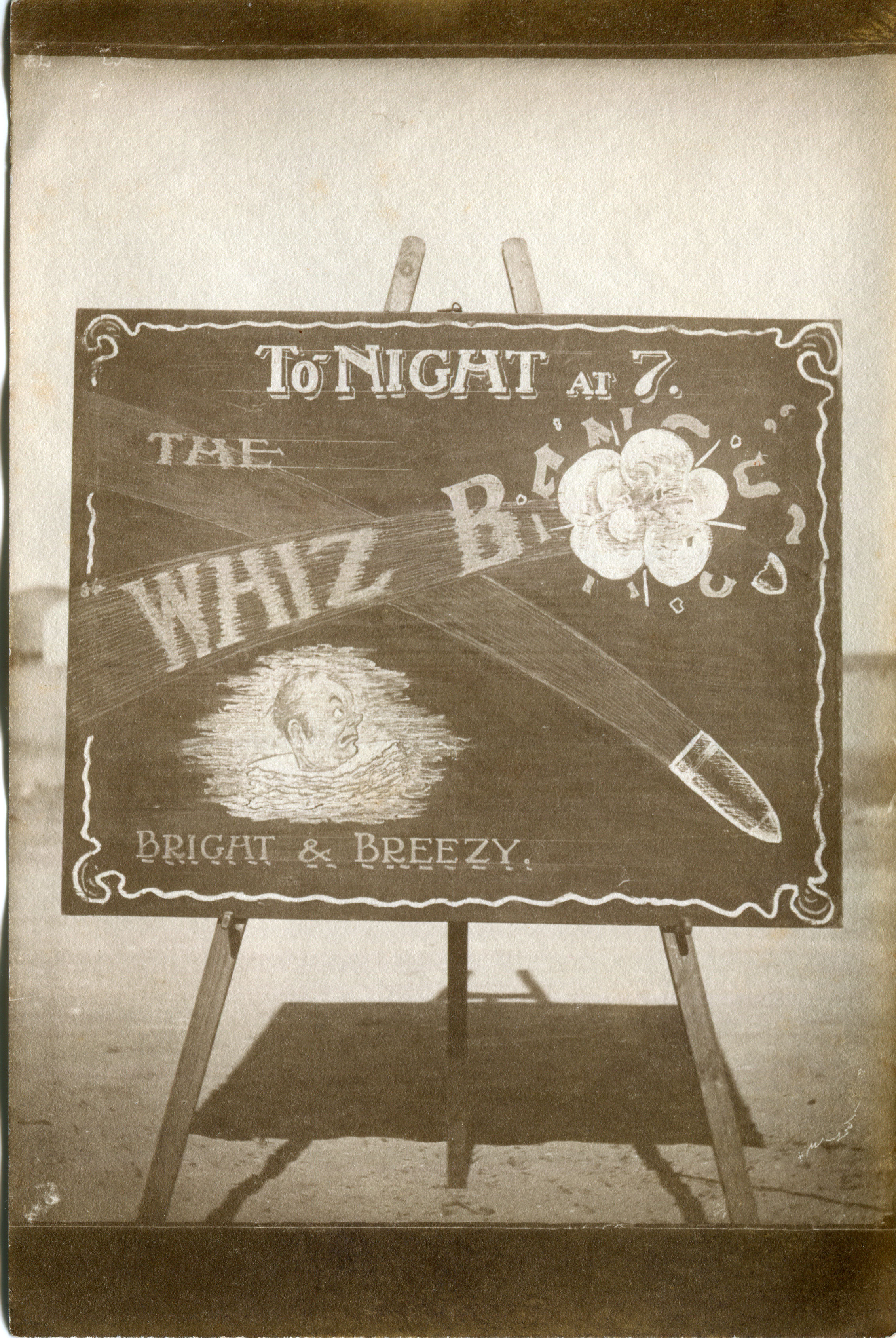The Whiz Bangs playing at the Desert Mounted Corps Rest Camp Concert Party, 13 September 1918.