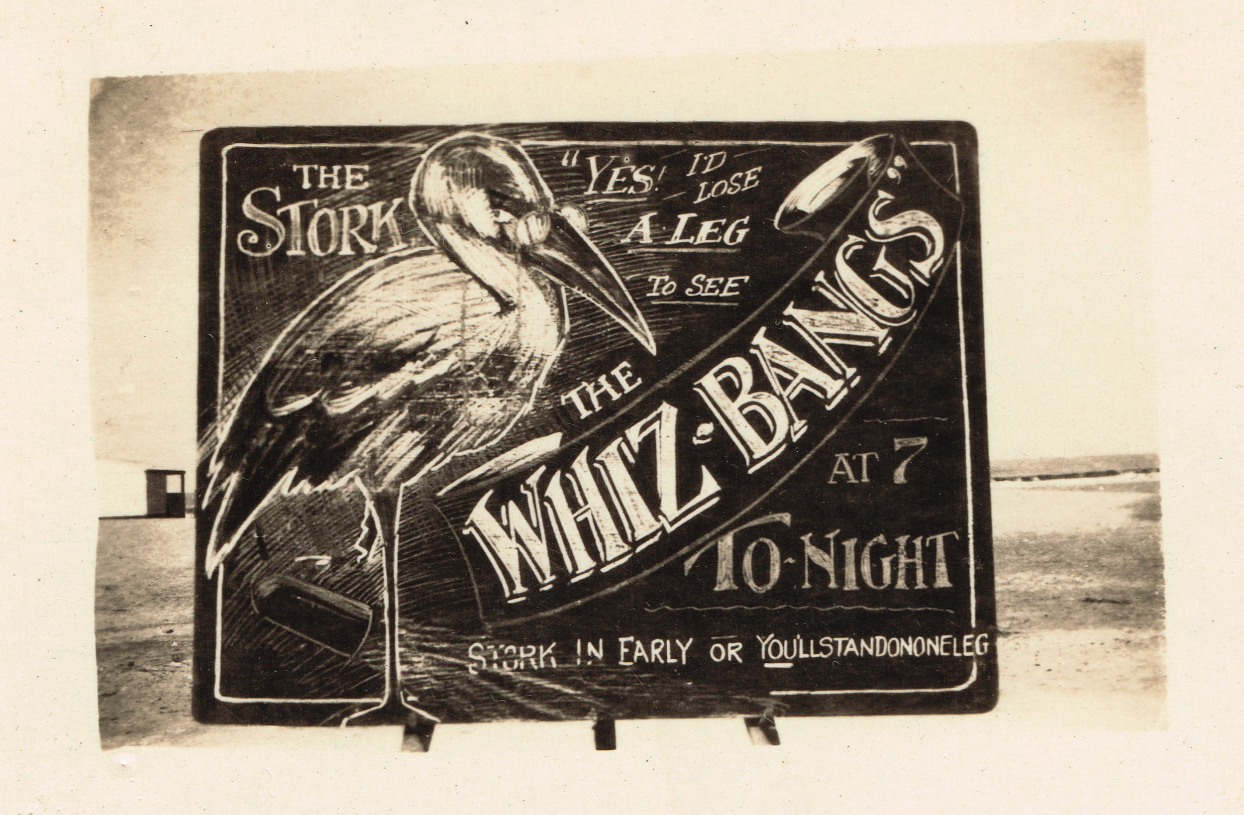 The Whiz Bangs, performance date unknown.