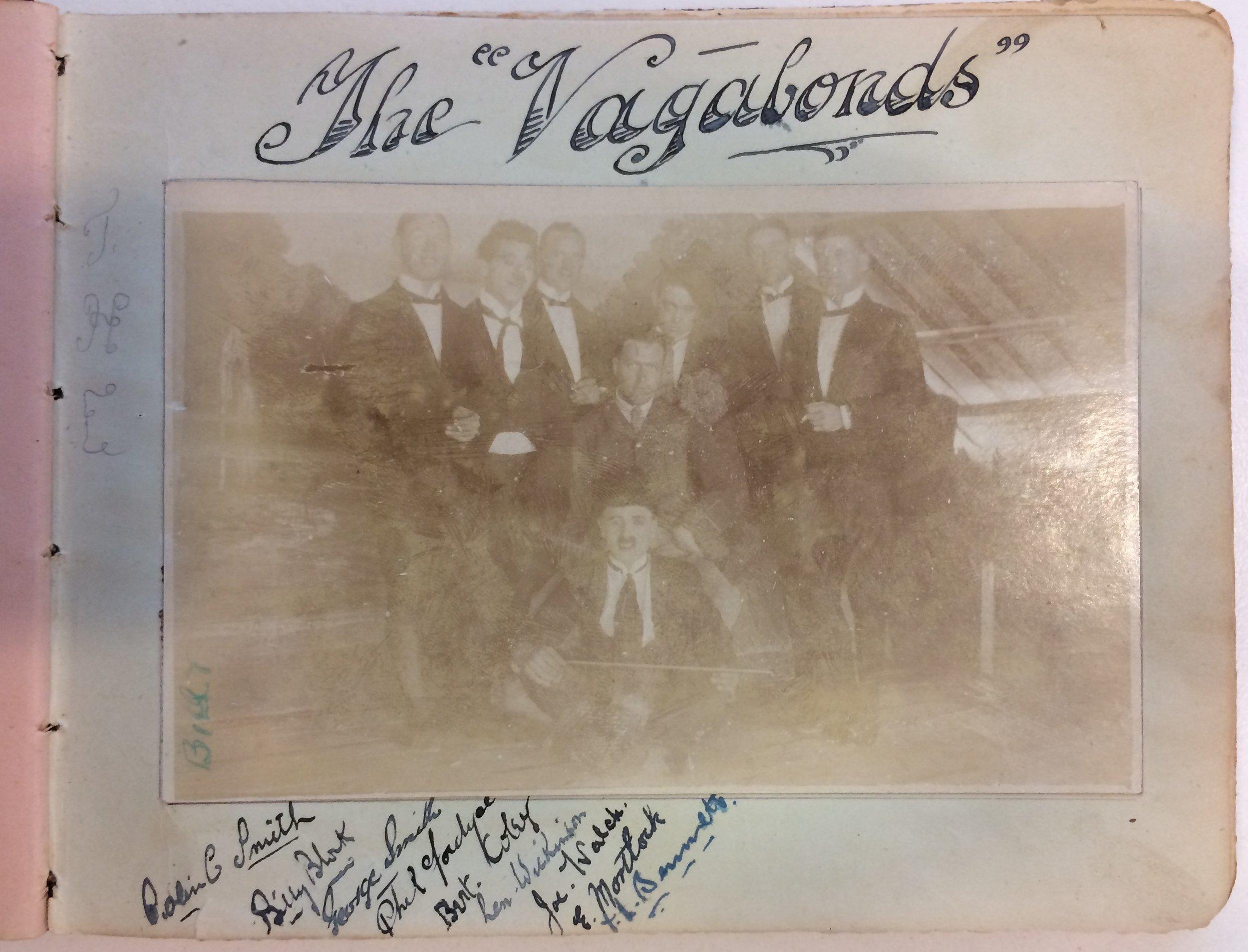 The Vagabonds' inscription in Hutch's autograph book, courtesy his granddaughter, Gail Hughes