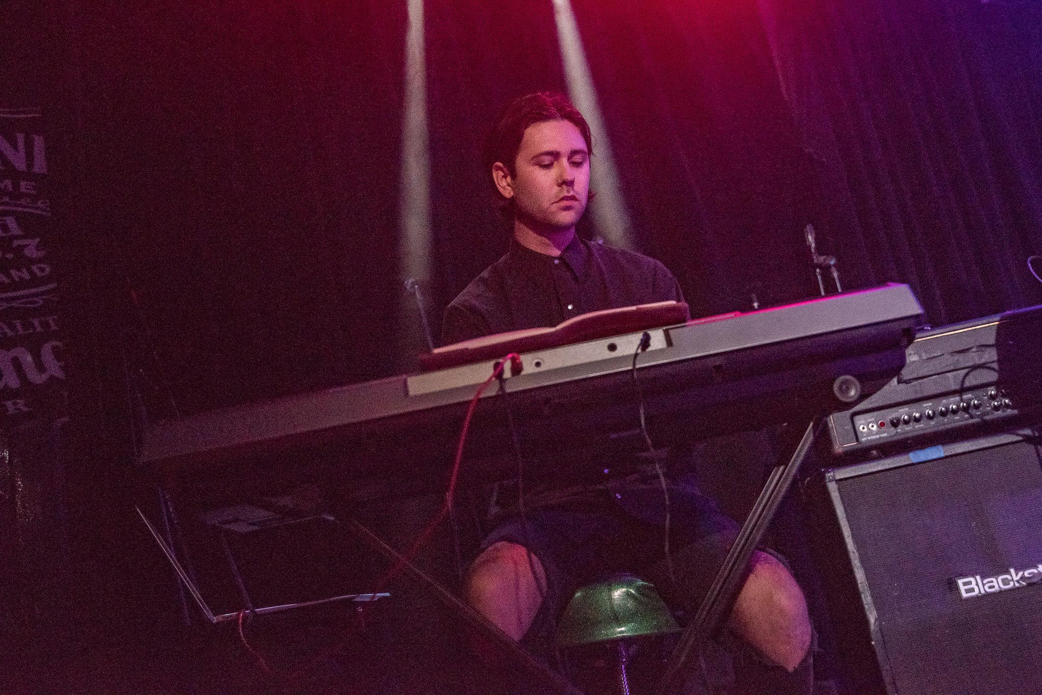 Keyboardist, Austin Hayman . Photography by Boston Lynn.