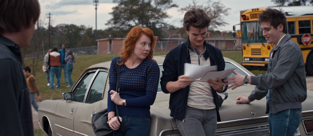 GLENNELLEN ANDERSON as the recurring role of Nicole on the hit Netflix series,     Stranger Things    , alongside costars Joe Keery (as Steve) and Chester Rushing (as Tommy H.).