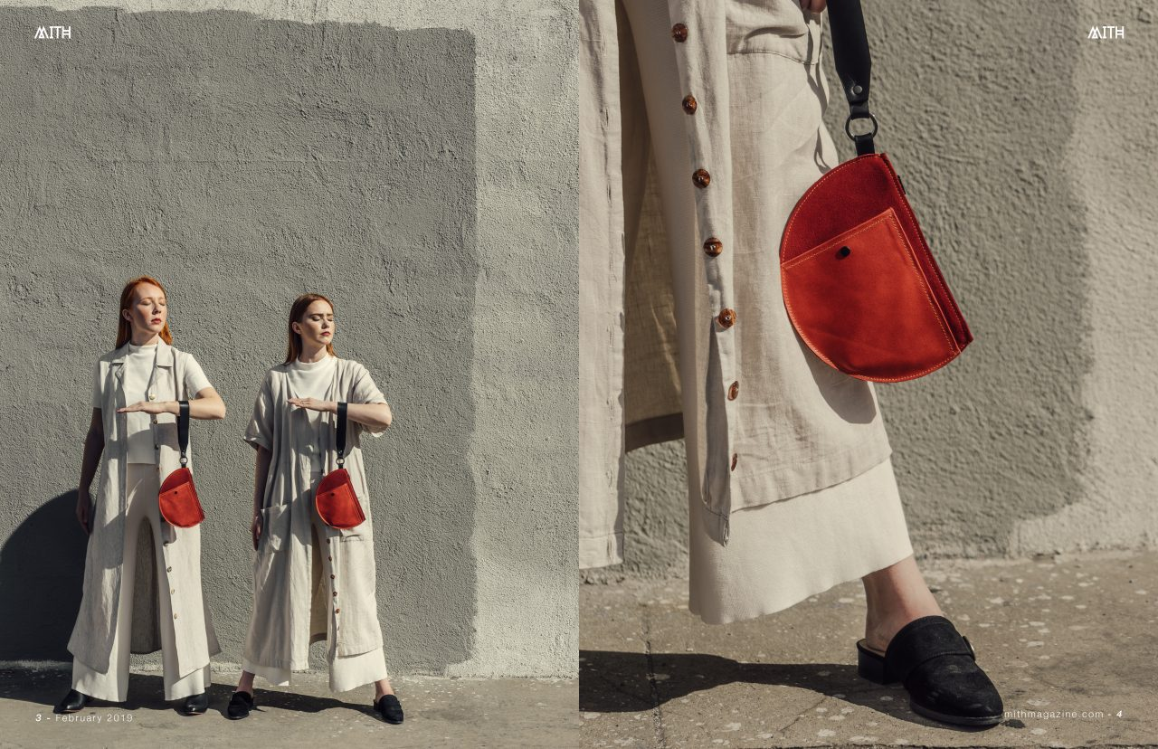MOTIF NO.3 x BETTER OFF RED: RUBY RED WRISTLETpublished in Mith Magazine - PHOTOGRAPHY BY JOEL BEARSTYLED BY CHERYL ROSSMODELS: glennellen (left) and jazz kalfayan