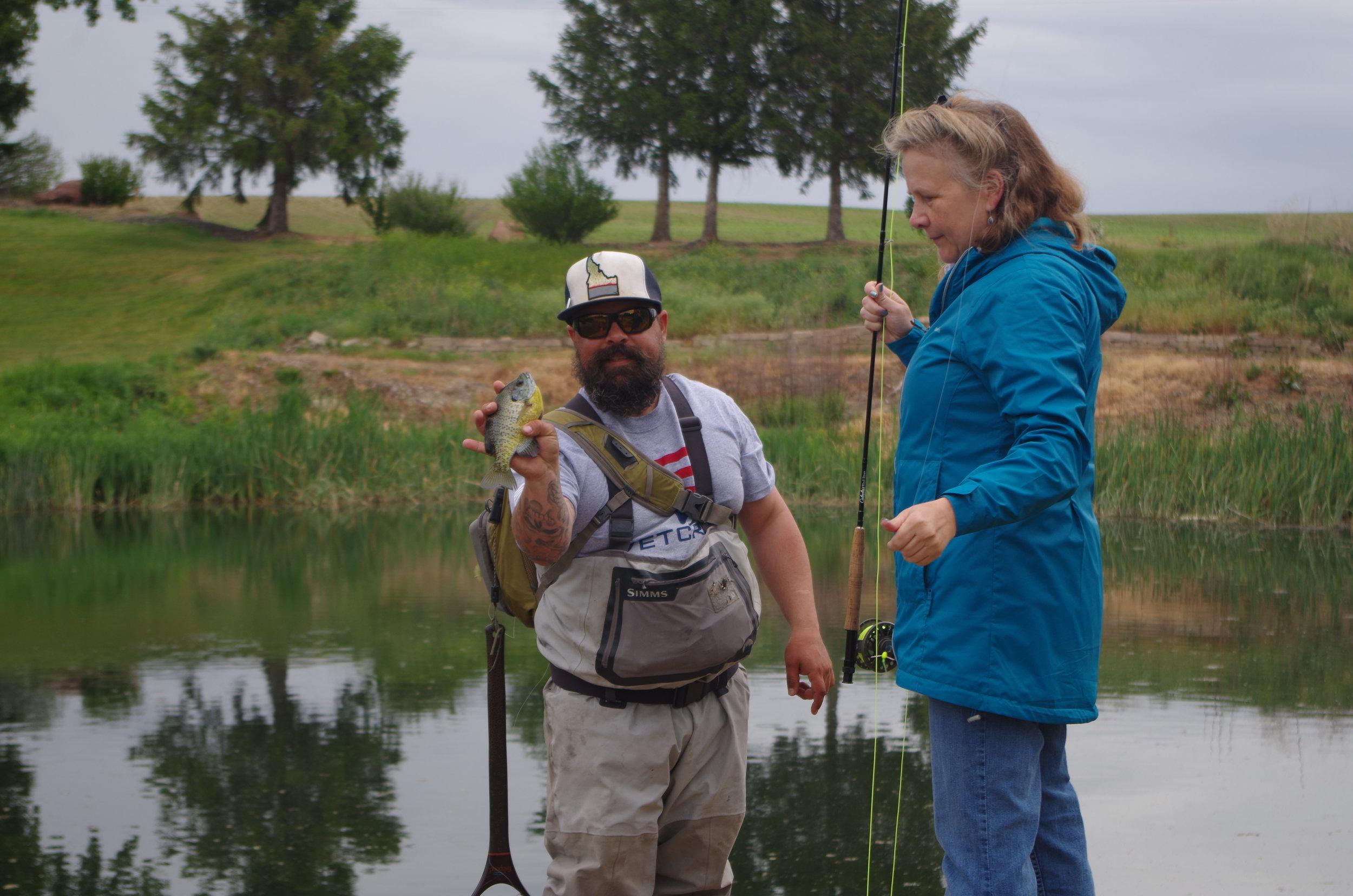 Fly fishing success at R&R!