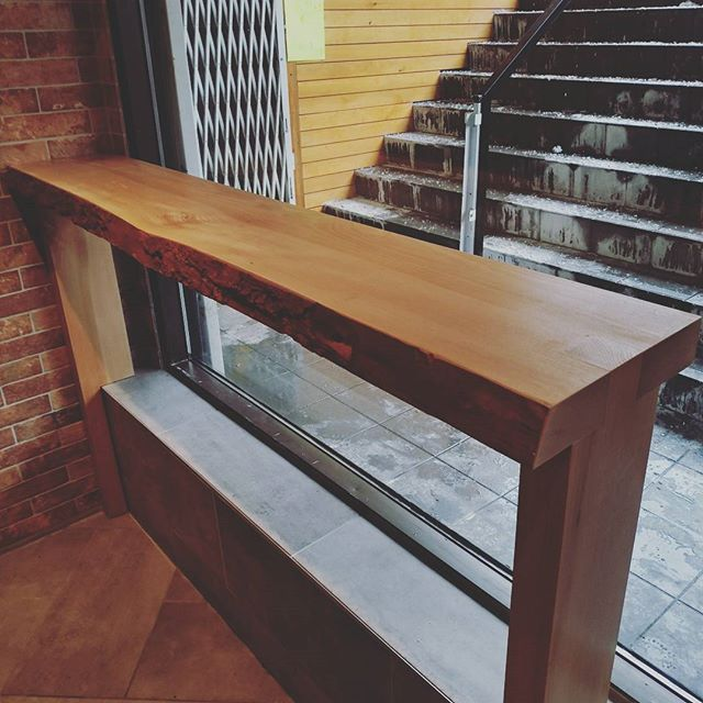 @mecwoodart thank you Mike for building our tables at our shop! Love the bar top table with the live edge, and amazing workmanship you provide at a great price!! Highly recommend by us if anyone is looking to build a table.  #woodwork #chinatowntoronto #colabration #arttoronto #torontoeats #handcrafted #liveedgetable #lusciousdessertstoronto