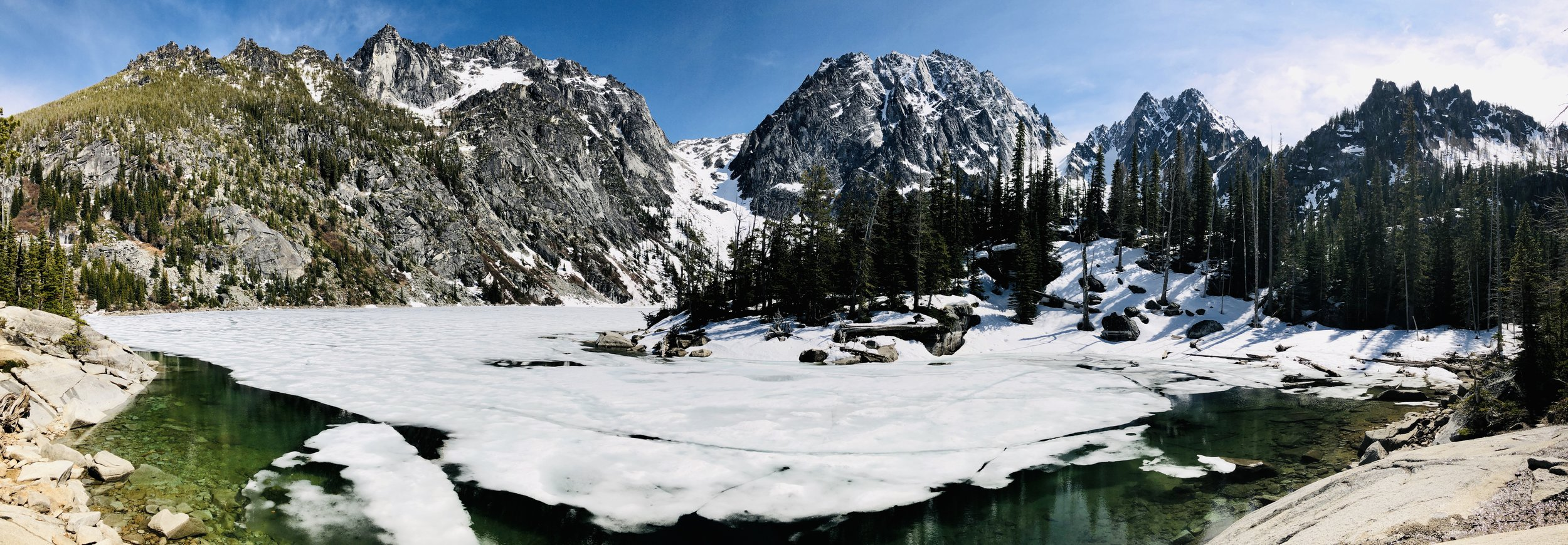 Photo evidence: Will there be snow up at Colchuck Lake in May? Probably. But maybe not!