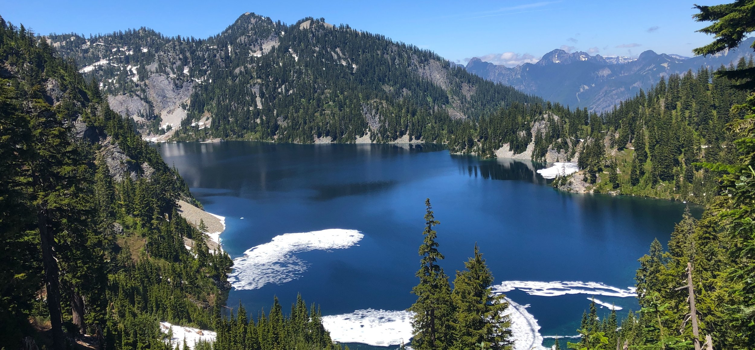 Snow Lake accessible in June 2019 with just a little snow on the trail!