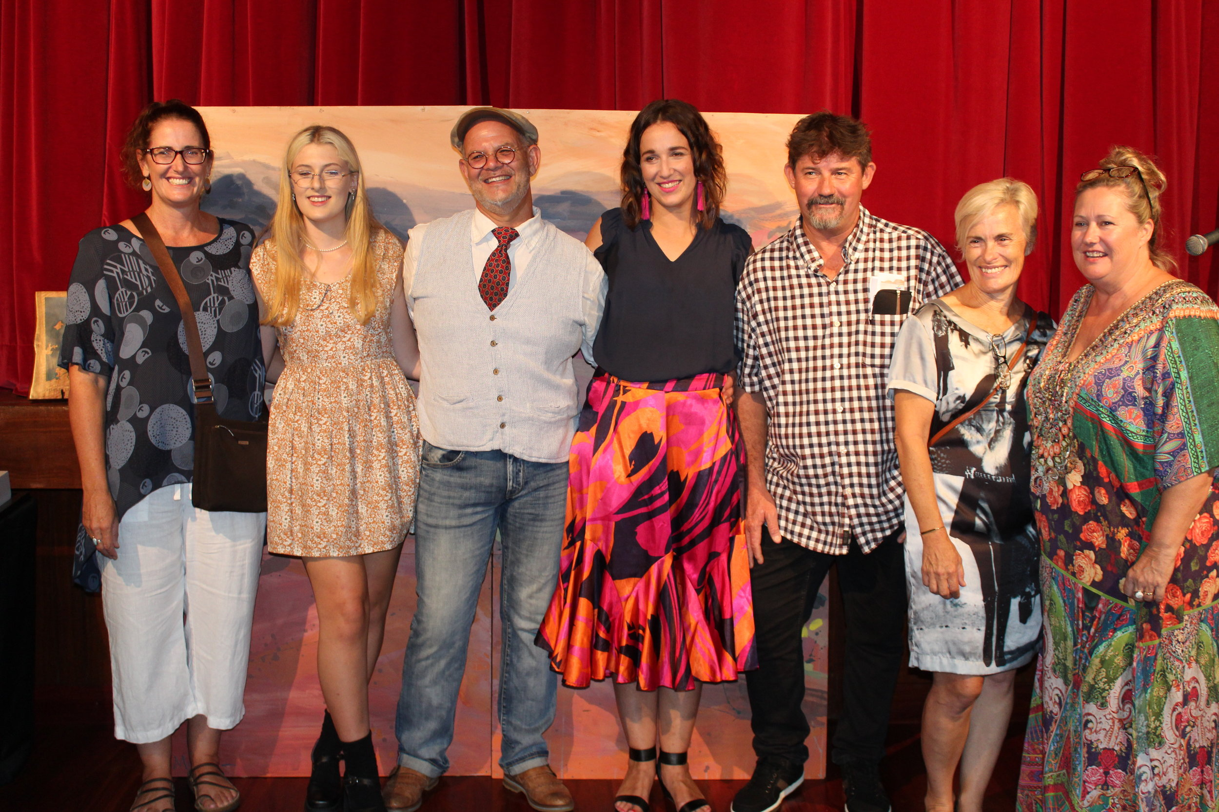 Category Winners : Deanne McGillan, Ebony Bascombe,Geoff Saunders, Tanya Montgomery (Judge), Shaun Wigley, Carrie McDowell and Robbie Palmer.