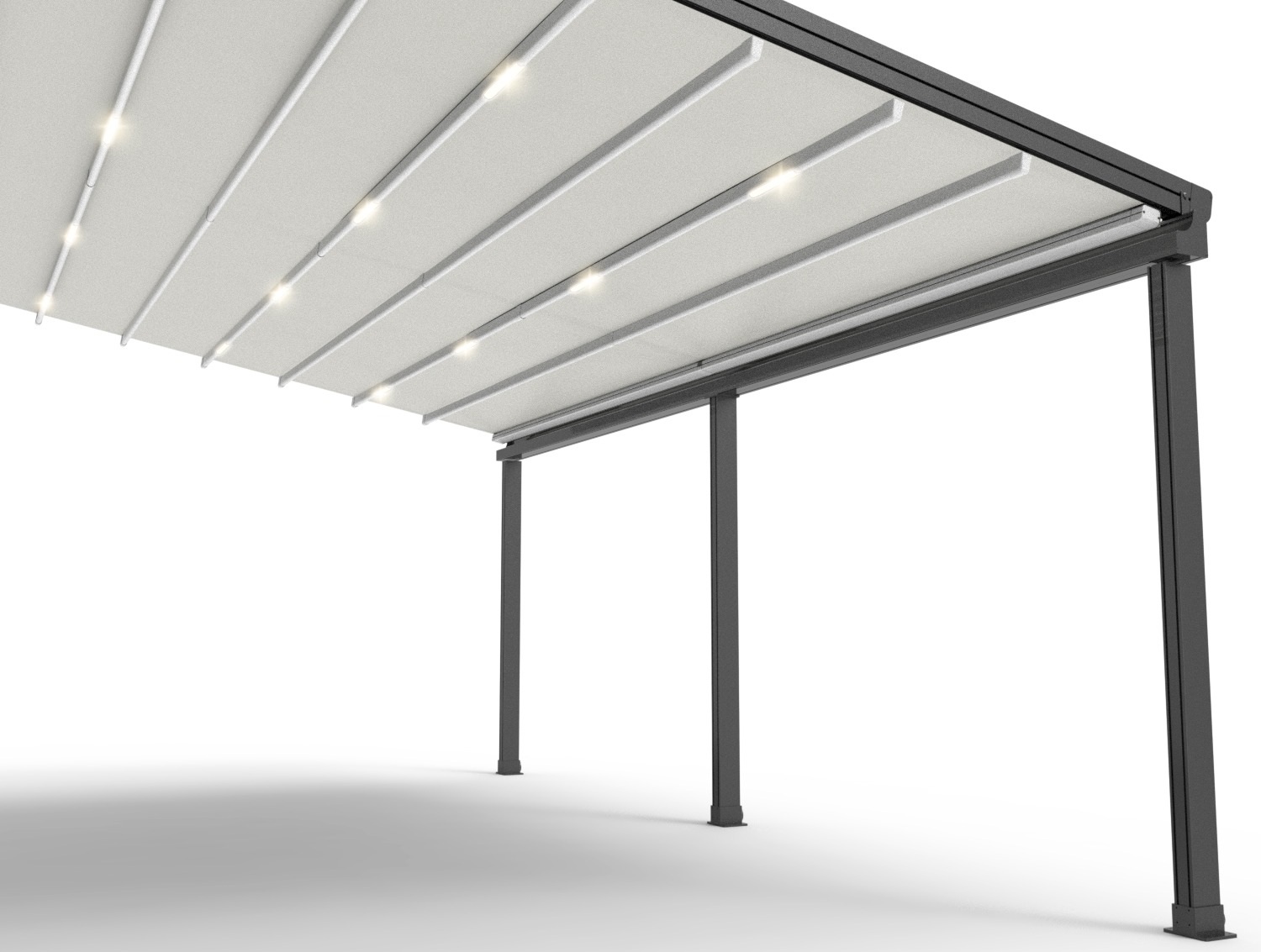 Dimmable LEDLighting - In-built lighting ensures an area can be used year round, day and night! The optional LED lighting allows for full control of any outdoor space.
