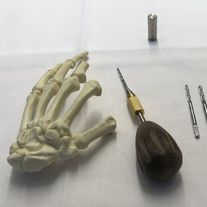 Implements used for Osseointegration of the hand