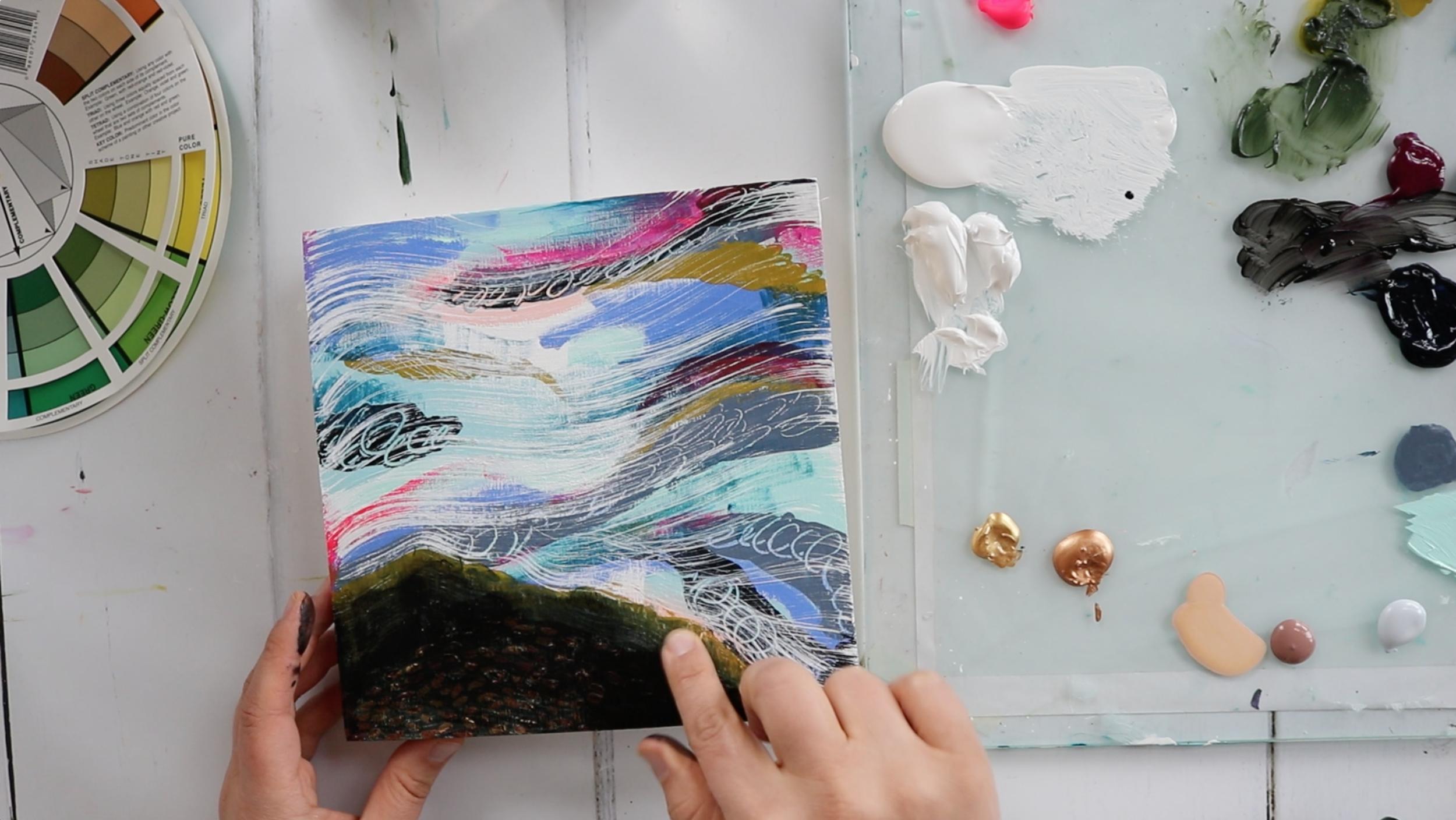 Annamieka Davidson New Year's Art Retreat Online Course