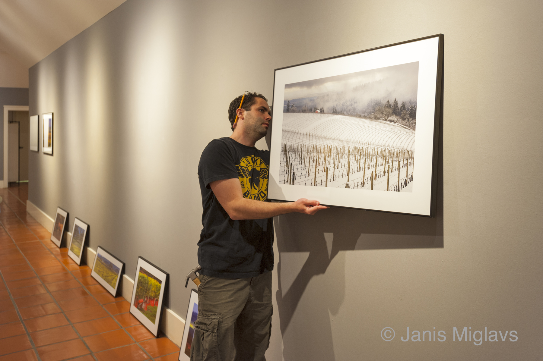 Framing Tip - For his gallery shows as well as many home and corporate installations, Janis prints the fine art images with a 3 inch white border. This gives the appearance of a matted photograph. Janis can do this for your prints for a nominal charge.