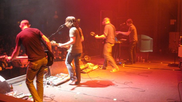 Minus the Bear during the Planet of Ice tour, 2008