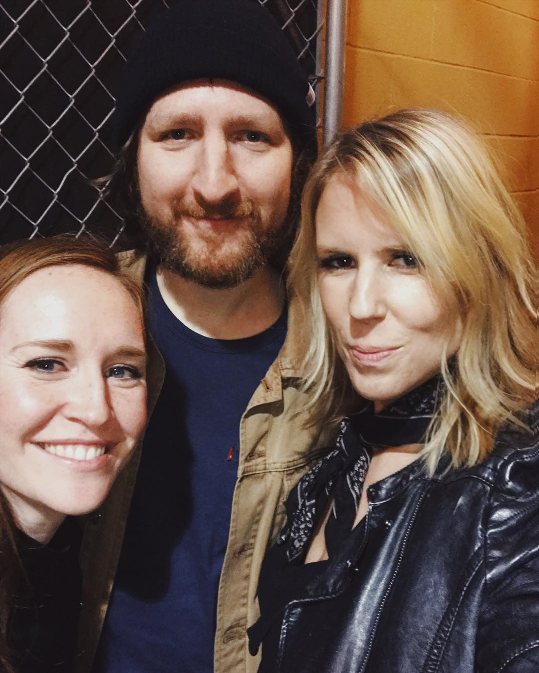 Backstage with Alex and Amy after the Farewell Tour show in LA, 2018