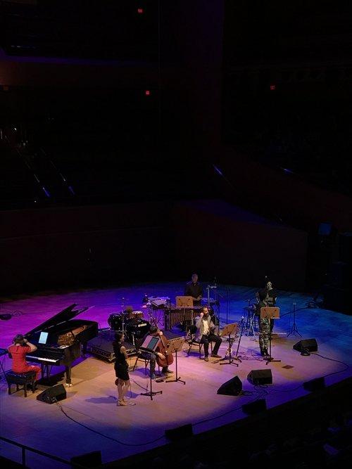 Eighth Blackbird onstage at Disney Hall