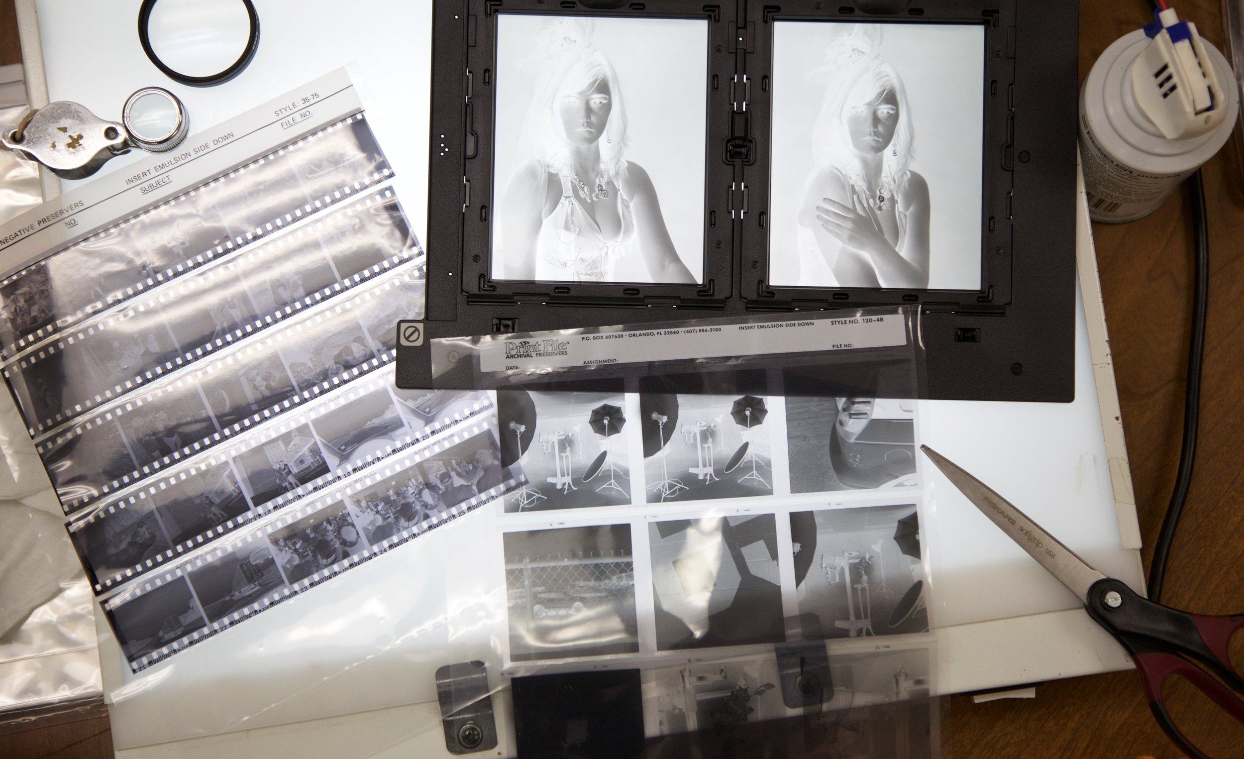 35mm, 120 and 4x5 negatives - tangible images all!
