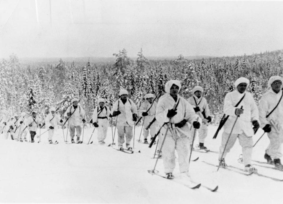 Members of the Finnish Ski Patrol in WW2 - photo by Captain   Lauri Allan Törni