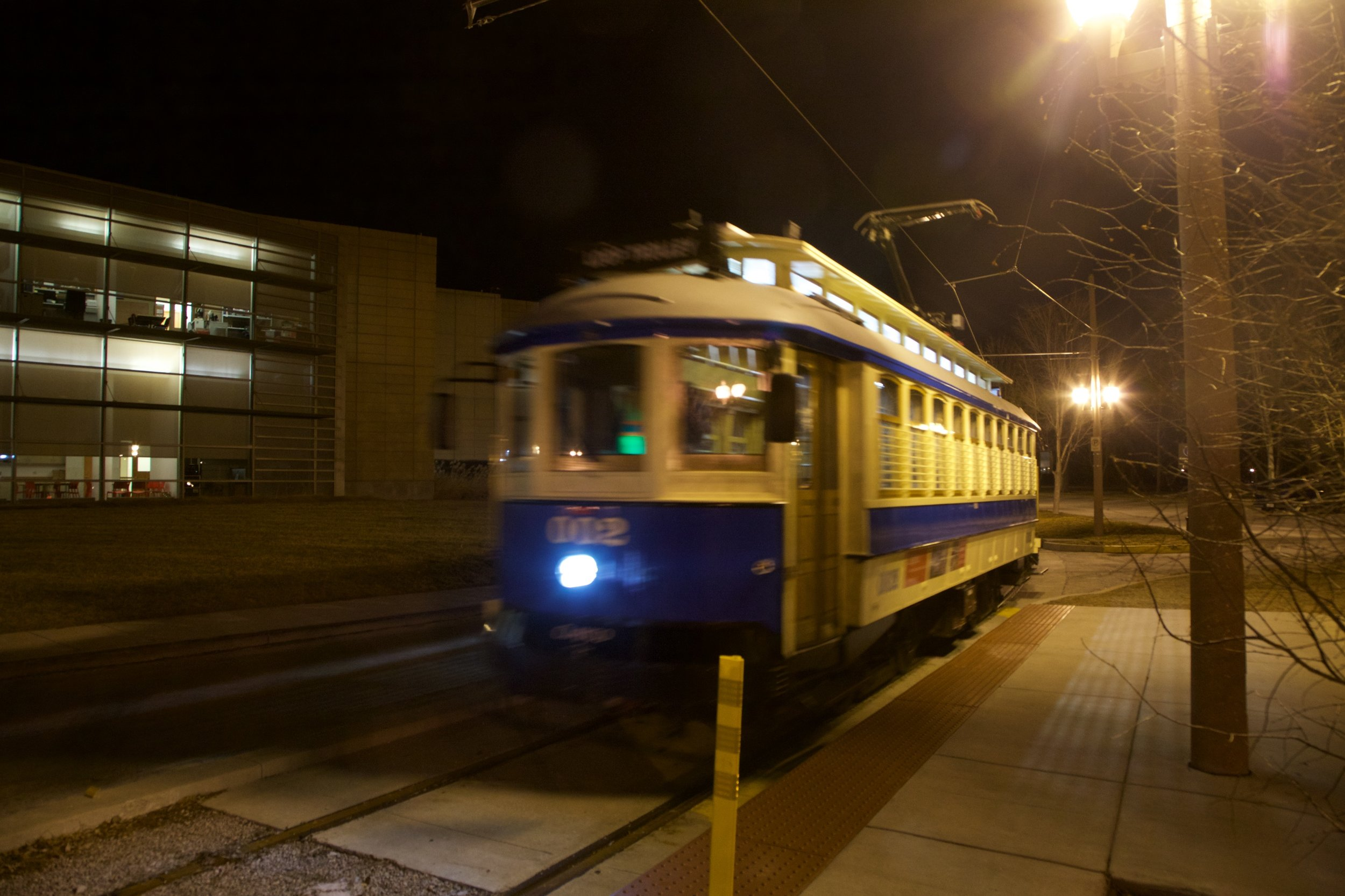 The Loop Trolly in Forest Park by the History Museum.