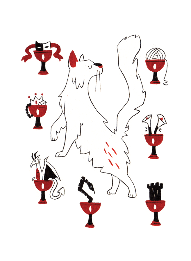 Seven of Cups - Upright: Disorganization, Wishful Thinking, ChoicesReversed: Making the Choice, Taking Action, Illusion