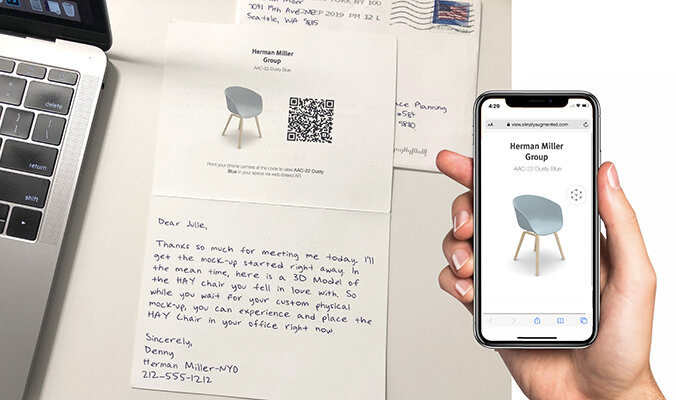 2D and 3D combines to create a delightful gesture using the power of augmented reality. Give your clients and prospects a thank you they won't forget.