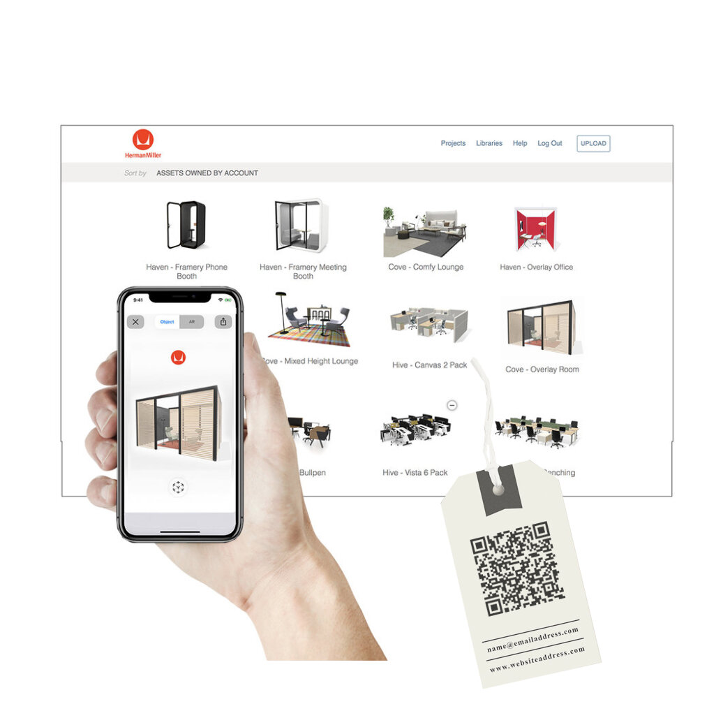 Simply Collaborate - Our 3D management platform enables teams to manage and review assets internally and publish and share consumer-ready 3D with ease.✓ Simple sharing via email, text and QR code.✓ Team collaboration and 3D library review.✓ Dynamic 3D leave behinds for print and digital.✓ AR presentations that set you apart.