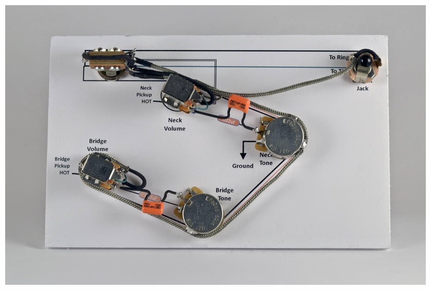 StayTuned Custom Shop on antique wiring harness, gibson les paul wiring diagram, gibson es 335 pickguard, fender strat wiring harness, gibson firebrand 335, gibson sg wiring, epiphone epi wiring harness, les paul wiring harness,