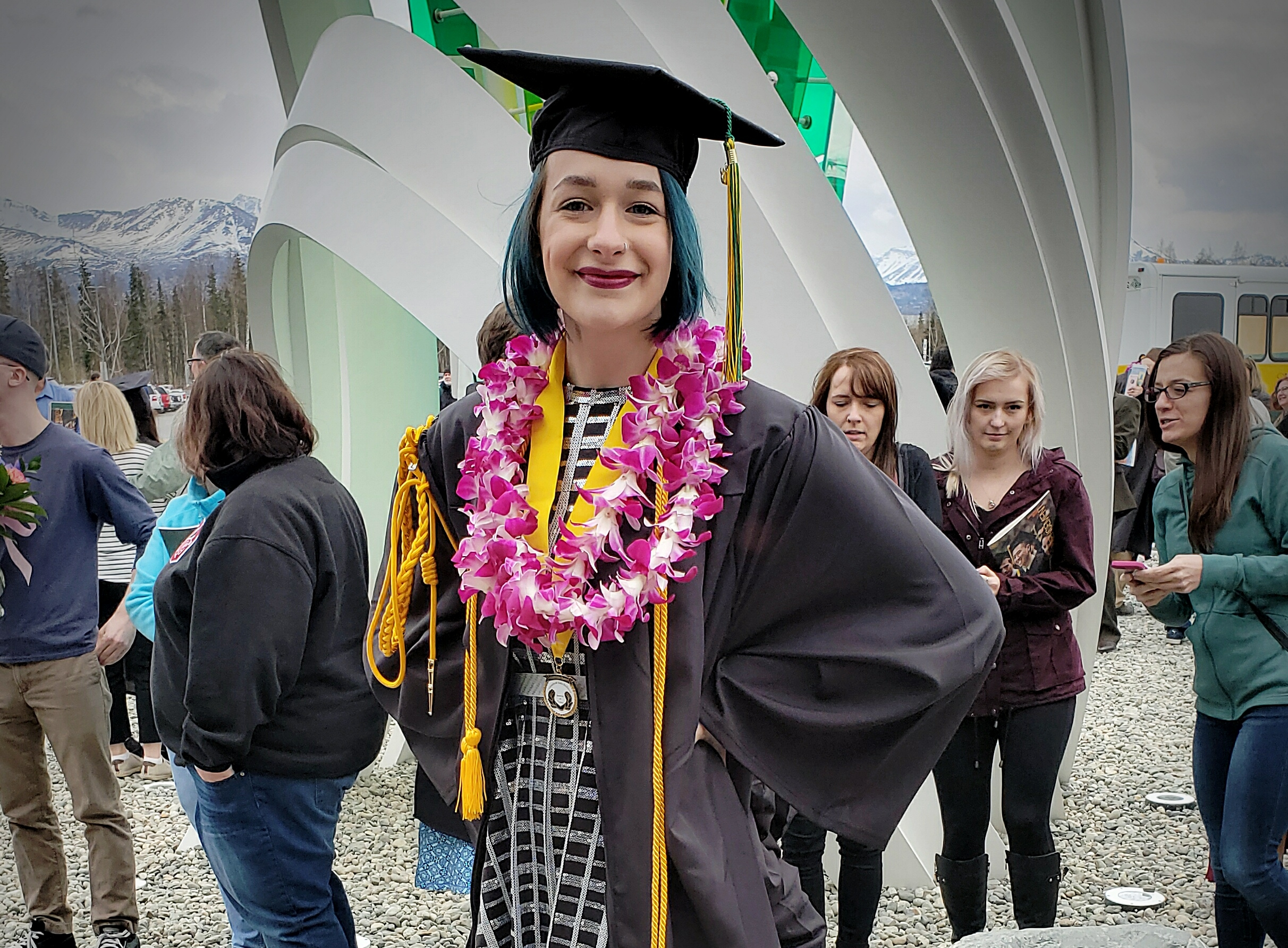 Katrina Chertkow graduated summa cum laude from the University of Alaska Anchorage earlier this month with a bachelor's degree in sociology. Photo credit: Scott Chertkow