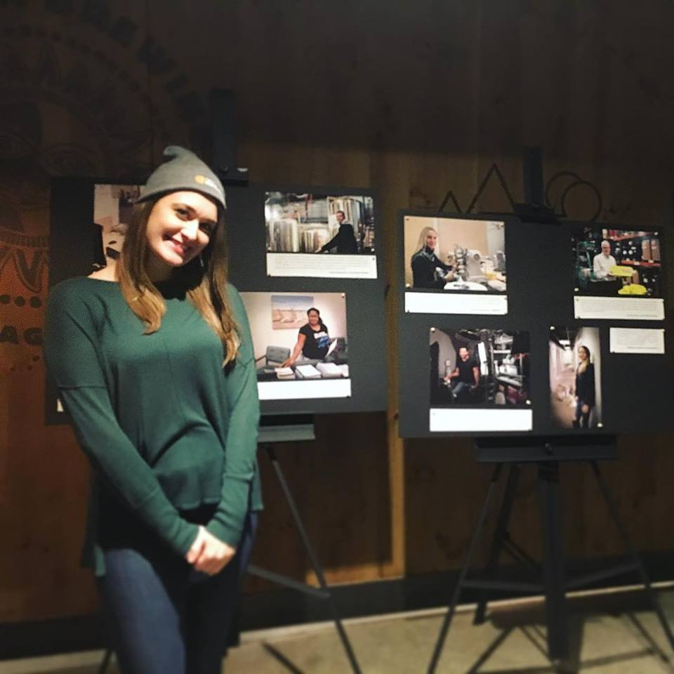 Ciara Zervantian at the opening for the Entrepreneurs of Anchorage Portrait Gallery