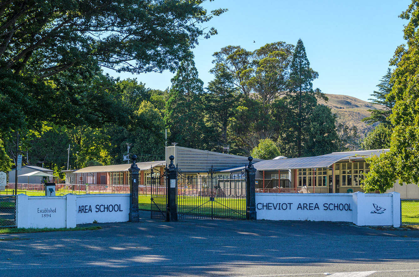 CHEVIOT AREA SCHOOL  Cheviot Area School is a rural state co-educational school. Our School caters for students from year 1 to 13 and boasts high levels of educational success in both our primary and secondary school.  Our grounds are park-like, sharing squash and netball courts, gymnasium, library and many other facilities with our vibrant community.  We welcome parents and prospective students to visit the school and talk with our staff at any time.  PO Box 53, Cheviot 7310, North Canterbury  Phone: 03 319 8787  Email:  office@cheviot.school.nz   www.cheviot.school.nz