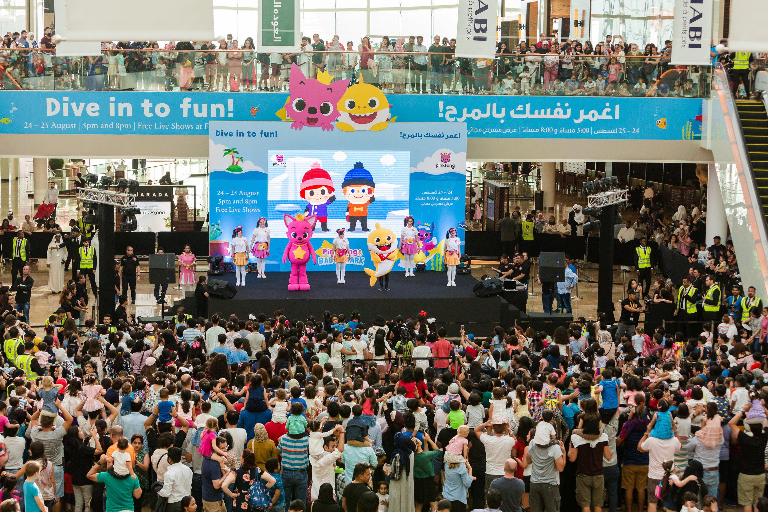 Pink Fong Baby Shark Dubai Corporate Photographer